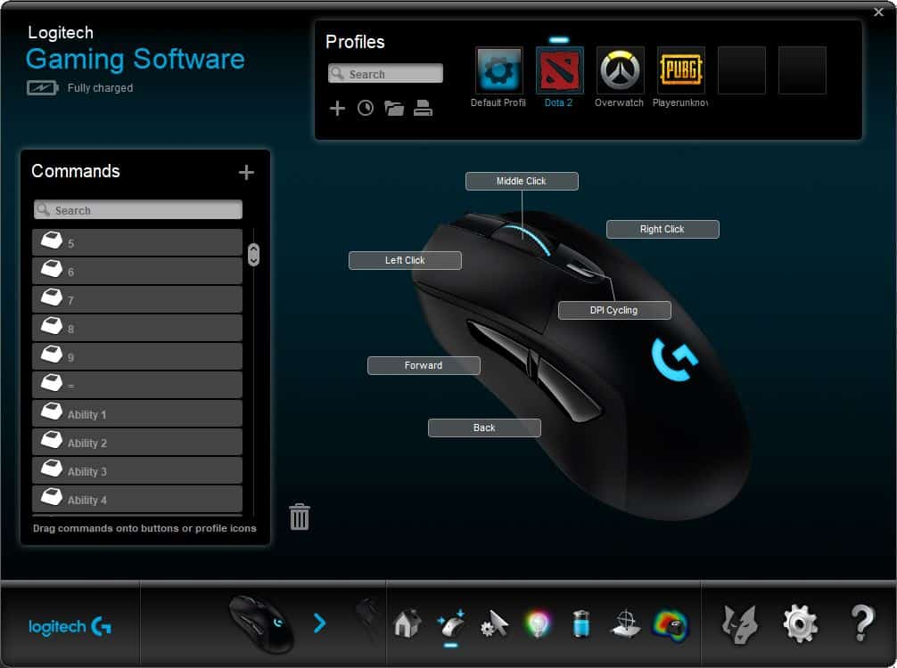 Logitech gaming software auto profile