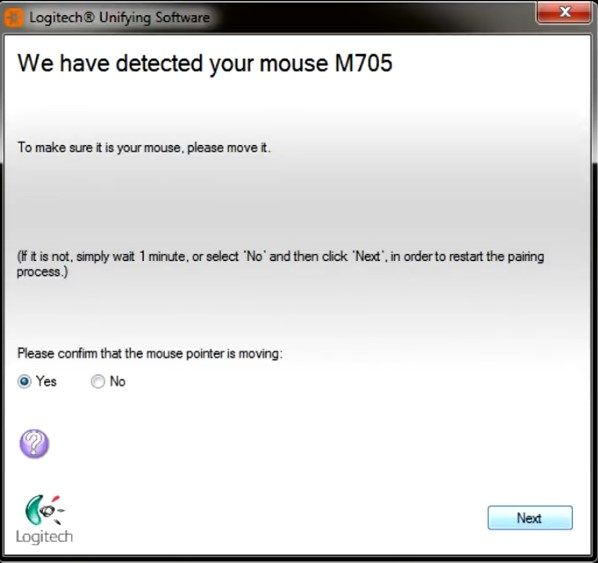 device detection confirmation