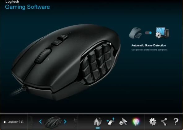 G600 mouse with Logitech gaming software