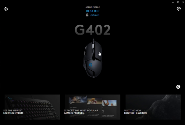 Logitech G402 mouse with G hub software