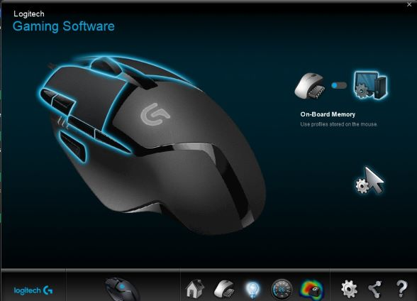 logitech G402 with gaming software