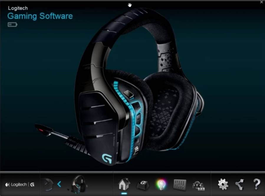 Logitech gaming software with G933 headset