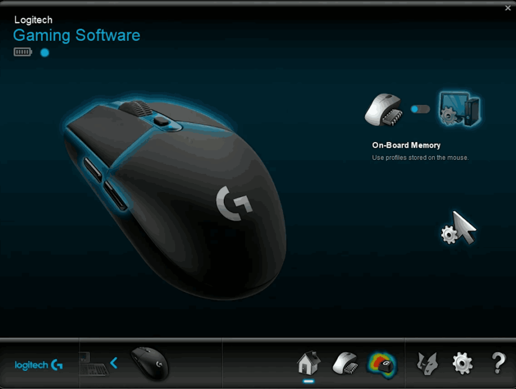 Logitech gaming software with G304 mouse